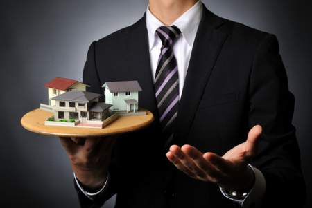 real estate agent and houses
