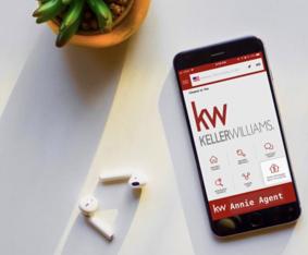 smart phone with keller williams app loaded